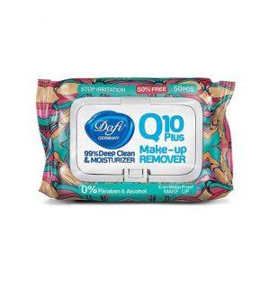 دستمال مرطوب پاک کننده آرایش ضد سوزش دافی مدل Q10