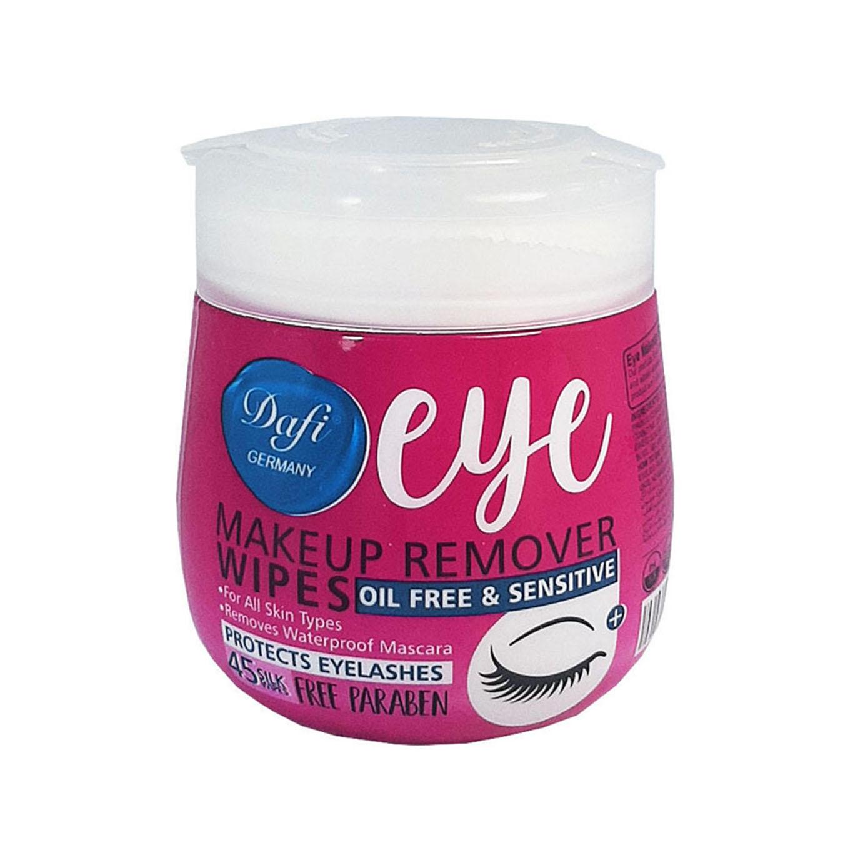 تصویر دستمال مرطوب پاک کننده آرایش چشم بسته 45 عددیدافی Dafi Eye Sensitive Makeup Remover Wipes 45pcs
